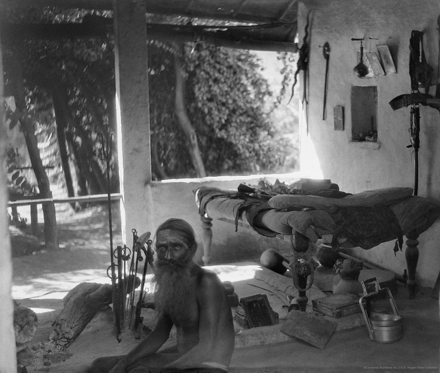 Fakir, or Holy Man, Sitting on the Floor of His Hut, Udaipur, India, 1929