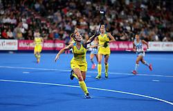 Australia's Georgina Morgan in action