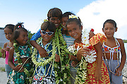 Children, Mataiva, Tuamotus, French Polynesia, (editorial use only, not model released)<br />