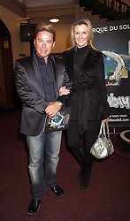 DAVID VAN DAY and KARAJAN MALLINDER at the Cirque du Soleil's gala premier of Quidam held at the Royal Albert Hall, London on 6th January 2009.