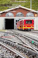 Jungfraubahn (train) at Kleine Scheidegg station, Switzerland