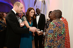 The Duke and Duchess of Cambridge talk with guests during the Tusk Conservation Awards at Banqueting House, London.