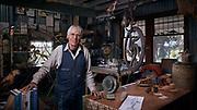 The artist Indiana James in his workshop on Kangaroo Island, Australia