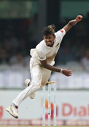 November 23, 2018 - Colombo, Sri Lanka - Sri Lankan cricket captain Suranga Lakmal delivers a ball   during the 1st day's play in the 3rd and final test cricket match between England and Sri Lanka at SSC international cricket stadium, Colombo, Sri Lanka. 11-23-2018  (Credit Image: © Tharaka Basnayaka/NurPhoto via ZUMA Press)
