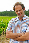 Laurent Cogombles owner and winemaker together with his wife Sophie Lurton  Chateau Bouscaut Cru Classe Cadaujac  Graves Pessac Leognan  Bordeaux Gironde Aquitaine France