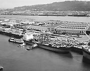 "Ackroyd 21351-1 ""Aerials – Exxon Galveston docked at NW Marine Iron Works, Swan Island. May 28, 1981"""
