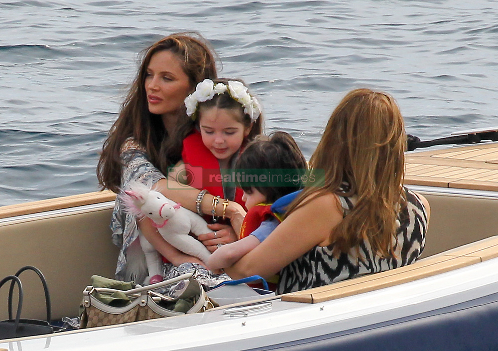 Please Hide The Child's Face Prior To The Publication - American producer Harvey Weinstein wife actress/designer Georgina Chapman with her children Dashiell Weinstein and India Pearl Weinstein leaving the Eden Roc in Antibes, France on May 19, 2015,  during the 68th International Film Festival. Photo by ABACAPRESS.COM  | 501140_013 Antibes France