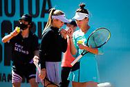 Anastasia Potapova and Veronika Kudermetova of Russia playing doubles at the Mutua Madrid Open 2021, Masters 1000 tennis tournament on May 4, 2021 at La Caja Magica in Madrid, Spain - Photo Rob Prange / Spain ProSportsImages / DPPI / ProSportsImages / DPPI
