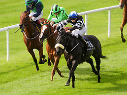Soffia ridden by Danny Sheehy win the Bold Lad Sprint Handicap during day two of the 2018 Longines Irish Champions Weekend at Curragh racecourse County Neath.