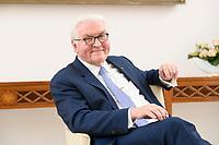02 FEB 2021, BERLIN/GERMANY:<br /> Frank-Walter Steinmeier, Bundespraesident, waehrend einem Interview, Robert-Blum-Saal, Schloss Bellevue<br /> IMAGE: 20210202-01-046<br /> KEYWORDS: BUndespräsident