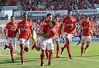 Fotball<br /> Tyskland<br /> Foto: Witters/Digitalsport<br /> NORWAY ONLY<br /> <br /> 1:0 Jubel v.l. Levin Oeztunali, Jhon Cordoba, Yunus Malli, Torschuetze Pablo de Blasis, Jean-Philippe Gbamin, Jean-Philippe Gbamin, Gaetan Bussmann (Mainz) <br /> Mainz, 11.09.2016, Fussball Bundesliga, 1. FSV Mainz 05 - TSG 1899 Hoffenheim
