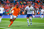 Netherlands forward Ryan Babel (Fulham) tussles with England defender Kyle Walker (Manchester City) during the UEFA Nations League semi-final match between Netherlands and England at Estadio D. Afonso Henriques, Guimaraes, Portugal on 6 June 2019.