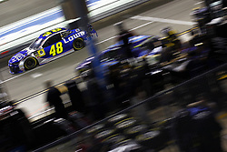 November 16, 2018 - Homestead, Florida, U.S. - Jimmie Johnson (48) takes to the track to qualify for the Ford 400 at Homestead-Miami Speedway in Homestead, Florida. (Credit Image: © Justin R. Noe Asp Inc/ASP)