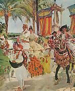 Joaquin Sorolla y Bastida, (27 February 1863 – 10 August 1923) Spanish painter. A festival procession in Valencia