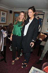 Left to right, AMANDA CROSSLEY and AMANDA FERRY at the launch of The Art of handmade Living by Willow Crossley held at George, 87-88 Mount Street, London on 11th October 2012.