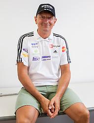 Coach Joze Bercic during press conference of Slovenian National Nordic teams on July 23, 2013 in SZS, Ljubljana, Slovenia. (Photo by Vid Ponikvar / Sportida.com)