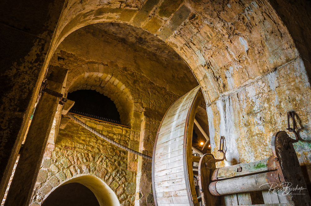 Abbey mill, Mont Saint-Michel monastery, Normandy, France