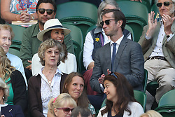 July 14, 2017 - London, London, United Kingdom - Image licensed to i-Images Picture Agency. 14/07/2017. London, United Kingdom. Pippa Middleton  and husband  James  in the crowd  on Men's Semi-final day at the Wimbledon Tennis Championships in London.  Picture by Stephen Lock / i-Images (Credit Image: © Stephen Lock/i-Images via ZUMA Press)