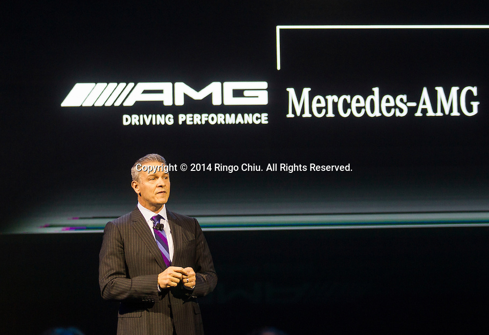 Stephen Cannon, CEO and president of Mercedes-Benz inc. USA , unveils their new cars during the media preview days at the 2014 Los Angeles Auto Show on Wednesday November 19, 2014 in Los Angeles, California. The auto show opens to public on Friday, November 21.(Photo by Ringo Chiu/PHOTOFORMULA.com)