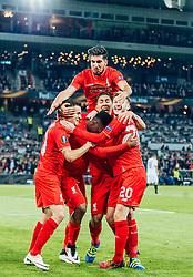 18.05.2016, St. Jakob Park, Basel, SUI, UEFA EL, FC Liverpool vs Sevilla FC, Finale, im Bild Torjubel Liverpool, Coutinho (FC Liverpool), Daniel Sturridge (FC Liverpool), Emre Can (FC Liverpool), Roberto Firmino (FC Liverpool), Adam Lallana (FC Liverpool) // Goal Celebration Liverpool Coutinho (FC Liverpool) Daniel Sturridge (FC Liverpool) Emre Can (FC Liverpool) Roberto Firmino (FC Liverpool) Adam Lallana (FC Liverpool) during the Final Match of the UEFA Europaleague between FC Liverpool and Sevilla FC at the St. Jakob Park in Basel, Switzerland on 2016/05/18. EXPA Pictures © 2016, PhotoCredit: EXPA/ JFK