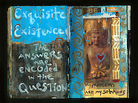 Buddha artist's journal mixed medium collage. Art Journal by Elena Ray. Handmade artist's journals filled with collage and crazy wisdom.