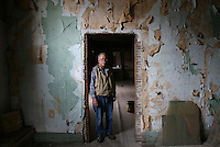Lee Bone, co-owner of the building that has an old theatre above B&R Kichens in Pennville Wednesday afternoon. .Chris Bergin/ The Star Press