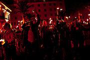 Lavoratori A.A.M.P.S di Livorno protestano contro la decisione presa dal  sindaco Filippo Nogarin sul concordato preventivo  per risolvere lo stato di debito della municipalizzata. Livorno 10 Dicembre 2015. Daniele Stefanini /  OneShot