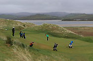 Sam Murphy (Portumna) on the 5th green during Round 3 of the Ulster Boys Championship at Donegal Golf Club, Murvagh, Donegal, Co Donegal on Friday 26th April 2019.<br /> Picture:  Thos Caffrey / www.golffile.ie