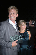 Gordon Ramsay and Danni Minogue. GQ Men Of The Year Awards at the Royal Opera House, London. September 6, 2005 in London, England, ONE TIME USE ONLY - DO NOT ARCHIVE  © Copyright Photograph by Dafydd Jones 66 Stockwell Park Rd. London SW9 0DA Tel 020 7733 0108 www.dafjones.com
