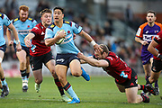 Lalakai Foketi of the Waratahs in possession during the Round 3 Trans-Tasman Super Rugby match between the NSW Waratahs and the Canterbury Crusaders at WIN Stadium in Wollongong, Saturday, May 29, 2021. (AAP Image/David Neilson) NO ARCHIVING, EDITORIAL USE ONLY