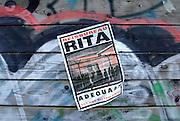 Nederland, Nijmegen, 16-11-2005Leuzen en graffiti  tegen het harde uitzettingsbeleid van vvd minister Rita Verdonk.Foto: Flip Franssen/Hollandse Hoogte