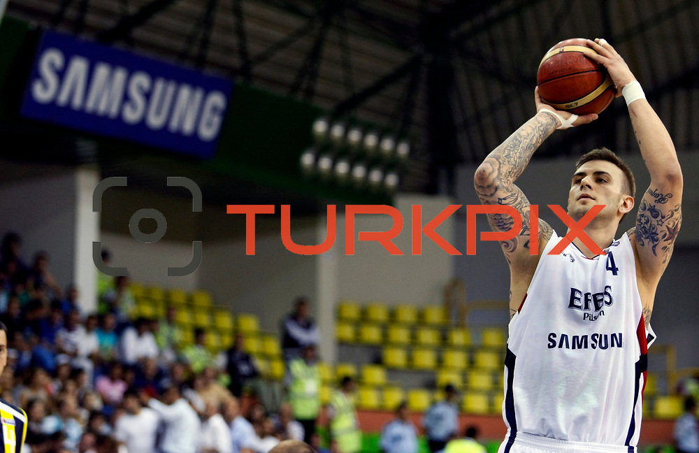 Efes Pilsen's Mario KASUN during their Turkish Basketball league Play Off Final fifth leg match Efes Pilsen between Fenerbahce Ulker at the Ayhan Sahenk Arena in Istanbul Turkey on Sunday 30 May 2010. Photo by Aykut AKICI/TURKPIX