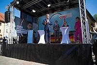 Apolda, 03.09.2021: Wahlkampfveranstaltung der CDU mit Armin Laschet, Kanzlerkandidat und CDU-Bundesvorsitzender, und CDU-Bundestagskandidat Mike Mohring auf dem Marktplatz in Apolda.