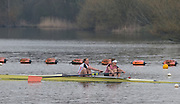 Caversham. Berkshire. UK<br /> Women's pair, Bow Fiona GAMMOND and Kartherine DOUGLAS, competing in the  2016 GBRowing U23 Trials at the GBRowing Training base near Reading, Berkshire.<br /> <br /> Monday  11/04/2016 <br /> <br /> [Mandatory Credit; Peter SPURRIER/Intersport-images]