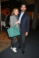 FAHD HARIRI and his wife MAJA at the PAD London 2015 VIP evening held in the PAD Pavilion, Berkeley Square, London on 12th October 2015.