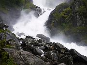 Latefossen or Latefoss Waterfall, Odda, Hordaland, Norway