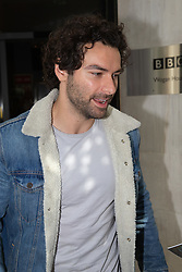 Poldark's Aidan Turner outside the BBC's Wogan House following an appearance on Radio 2. London, June 15 2018.