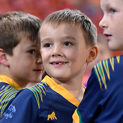 BRISBANE, AUSTRALIA - APRIL 21: Naranga United juniors looks on before the Hyundai A-League Elimination Final match between the Brisbane Roar and Western Sydney Wanderers at Suncorp Stadium on April 21, 2017 in Brisbane, Australia. (Photo by Patrick Kearney/Brisbane Roar)