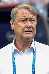 June 26, 2018 - Moscow, Vazio, Russia - Coach Age Hareide during the game between Denmark and France valid for the third round of group C of the 2018 World Cup, held at the Luzhniki Arena in Moscow in Russia. Denmark 0-0 France  (Credit Image: © Thiago Bernardes/Pacific Press via ZUMA Wire)