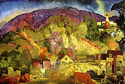 George Wesley Bellows, American (Ashcan School) Painter, 1882-1925. 'The Village on the Hill' 1917