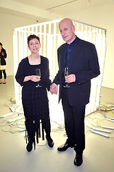 Curators VICTOR & MARGARITA TUPITSYN at a private view of Liquid Modernity - aworks by artist Andrei Molodkin held at Orel Art UK, 7 Howick Place, London on 22nd April 2009.