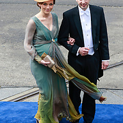 NLD/Amsterdam/20130430 - Inhuldiging Koning Willem - Alexander, prins Floris en zwangere prinses Aimee Sohngen