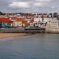 Europe, Portugal, Cascais. Praia dos Pescadores, a beach on the town of Cascais on the Estoril coast of greater Lisbon.