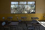 Antiguo colegio La Greda. Esta escuela se cerró en 2011 por la intoxicación por azufre de 31 niños y 12 adultos.<br /> <br /> La Greda, Chile, fotografía tomada el 3 de septiembre de 2018.