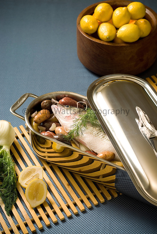 Fish Dinner with Lemon and Dill