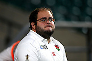 an England fan looking dejected after the final whistle after being knocked out of the Rugby World Cup 2015Rugby World Cup 2015 pool A match, England v Australia at Twickenham Stadium in London, England  on Saturday 3rd October 2015.<br /> pic by  John Patrick Fletcher, Andrew Orchard sports photography.