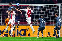 12-12-2018 NED: Champions League AFC Ajax - FC Bayern Munchen, Amsterdam<br /> Match day 6 Group E - Ajax - Bayern Munchen 3-3 / (L-R) Manuel Neuer #1 of Bayern Munich, Niklas Sule #4 of Bayern Munich, Daley Blind #17 of Ajax, Max Wober #5 of Ajax, David Alaba #27 of Bayern Munich, Leon Goretzka #18 of Bayern Munich
