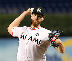 May 31, 2017 - Miami, FL, USA - Miami Marlins' Dan Straily pitches in the second inning against the Philadelphia Phillies on Wednesday, May 31, 2017 at Marlins Park in Little Havana in Miami, Fla. (Credit Image: © Pedro Portal/TNS via ZUMA Wire)