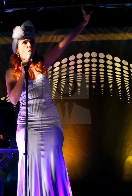 Paloma Faith pictured performing at the launch of Arthur's Day 2011. Pic Andres Poveda CPR