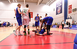Cardell McFarland of Bristol Flyers scores two free throws in the dining seconds to take the game in to over time  - Mandatory byline: Joe Meredith/JMP - 11/12/2015 - Basketball - SGS Wise Campus - Bristol, England - Bristol Flyers v Plymouth Raiders - British Basketball League